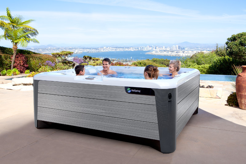 Hot Spring-Highlife-2019-Grandee-Ice Gray-Driftwood-Lifestyle-Family